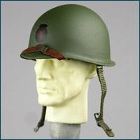 Soldier Story Henry Kano M1 helmet with Red Bull insignia (metal)