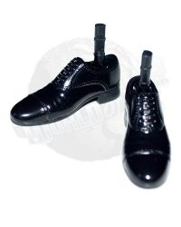 Star Ace Steve McQueen As Captain Virgil Hilts Exclusive Edition: Dress Shoes With Ankle Pins (Black)