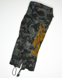 Hot Toys The Mandarin: Camouflage Trousers With Golden Dragon Embroidery