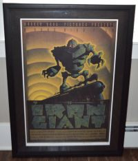 Mark Whiting The Iron Giant  Giclee On Canvas With Certificate of Authenticity