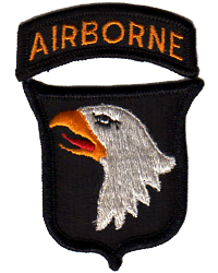 1:1 Scale Authentic WWII 101st Airborne Embroidered Patch