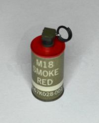 Soldier Story USMC 2nd Marine Expeditionary Battalion In Afghanistan Helmand Province: M18 Smoke Flash Bang (Red)