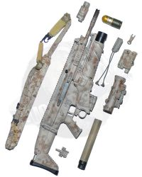 "Soldier Story Medal of Honor Navy SEAL ""Voodoo"": FN MK17 MOD0 7.62 Rifle (AOR1) +"