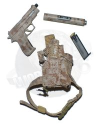 "Soldier Story Medal of Honor Navy SEAL ""Voodoo"": SIG P226R 9MM Pistol With AAC Suppressor, Magazine & LBT 0372L Holster (AOR1)"