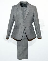 SooSoo Toys Hero Lawyer: Suit Jacket & Trousers With Functional Buttons (Grey)