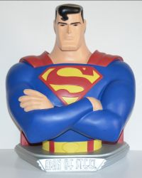 "1997 Superman Animated statue bust 18"" (Warner Brothers Studio Store)"
