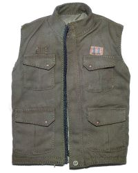 "Motor Mechanic Bousouzoku of One, The ""Buzz Cut"": Carhart Sleeveless Vest With Skull Imprint (Green)"