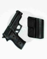 Wolf King Tough Guy: Pistol With Magnetic Vest Mounted Holster (Black)