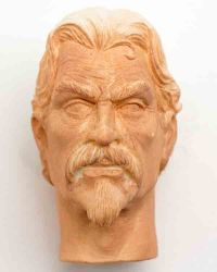 WoOS Originals Custom Deadwood Al Swearengen Headsculpt (Beard & Mustache)
