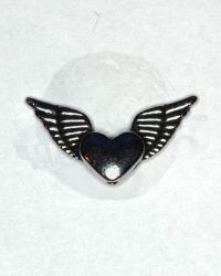WoOS Originals Small Double Wings & Heart Charm