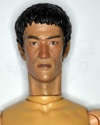 Custom Painted Bruce Lee Headsculpt (Cracked Neck, Not Perfect)